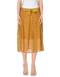 Giorgia And Johns Giorgia And Johns Skirts Knee Length Skirts Women Ocher