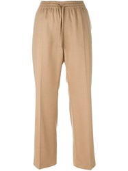 Joseph Flap Pocket Cropped Trousers Nude And Neutrals