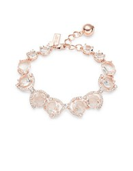 Kate Spade Crystal And Pave Accented Bracelet Rose Gold