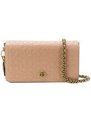 Coach Dinky Crossbody Bag Nude And Neutrals