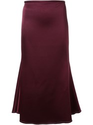 Ellery Long Circle Skirt Red