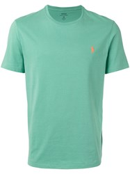 Polo Ralph Lauren Logo Embroidered T Shirt Green