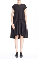Vivetta High Low Short Sleeve Dress Black