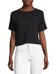 Saks Fifth Avenue Classic Ribbed Tee Black