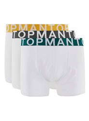 Topman White Large Font Trunks 3 Pack
