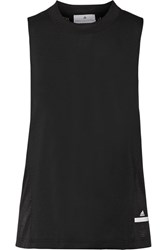 Adidas By Stella Mccartney Paneled Mesh And Climacool Stretch Tank Black