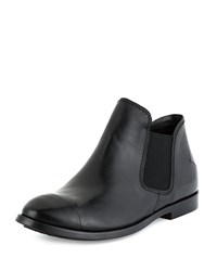 Cnc Costume National Leather Chelsea Boot Black
