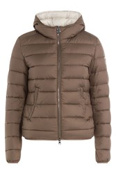 Colmar Odyssey Quilted Down Jacket With Hood Brown