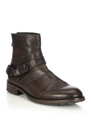 Belstaff Trialmaster Waxed Leather Short Boots