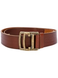Dsquared2 Military Buckle Belt Brown