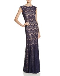 Aqua Gown Lace Navy Nude