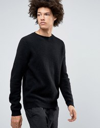 Selected Homme Plus Crew Neck Knit Black
