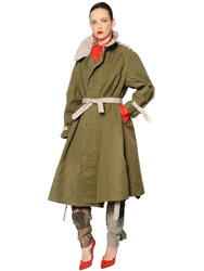Ronald Van Der Kemp Oversized Cotton Twill Trench Coat
