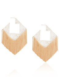 Hannah K Silver Plated Square Earrings