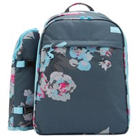 Joules Grey Floral Filled Rucksack 4 Person