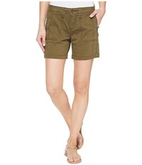Jag Jeans Somerset Relaxed Fit Shorts In Bay Twill Hedge Women's Shorts Green