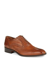 Black Brown Wingtip Leather Oxfords Tan