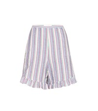 See By Chloe Striped Cotton Shorts Multicoloured