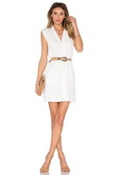 L'academie The Sleeveless Shirt Dress White