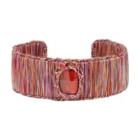 Boks And Baum New York Cuff Bracelet Small Red Passion