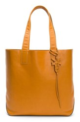 Frye Carson Leather Tote Orange Sunrise