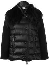 Moncler Grenoble Fur Collar Padded Jacket Black