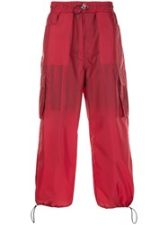 Sunnei Elasticated Loose Fit Trousers Red