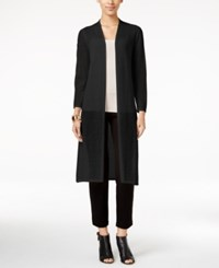 Alfani Petite Open Front Duster Cardigan Only At Macy's Deep Black