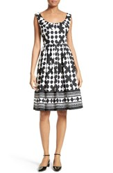 Kate Spade Women's New York Lantern Print Scoop Neck Dress