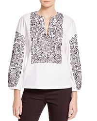 Tory Burch Embroidered Doodle Cotton Tunic
