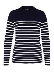 Hallhuber Striped Jumper Navy