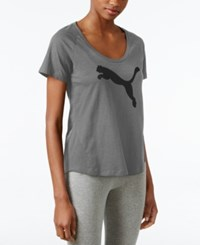 Puma Graphic T Shirt Dark Gray Heather