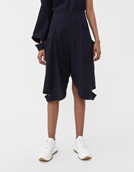 J.W.Anderson Cutout Flared Short Navy