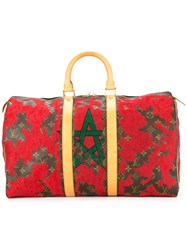 Jay Ahr Morocco Flag Vintage Louis Vuitton Keepall Red
