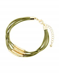 Fragments For Neiman Marcus Multi Row Cord Bracelet Olive