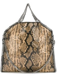 Stella Mccartney A Falabellaa Fold Over Tote Nude And Neutrals