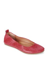 Gentle Souls Dana Leather Ballet Flats Red