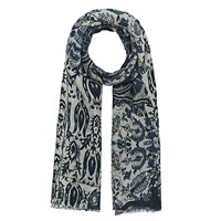 Gerard Darel Wilderness Scarf Navy Blue