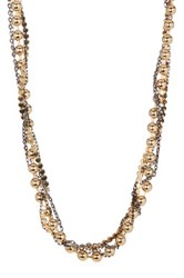 14Th And Union Twisted Shotbead Chain Necklace Metallic