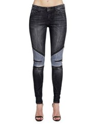 Cult Of Individuality Moto Mid Rise Zipped Jeans Black