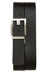Boss Men's Big And Tall 'Fleming' Reversible Leather Belt Black Brown