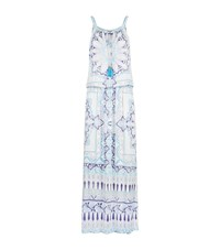 Hale Bob Printed Maxi Dress Blue