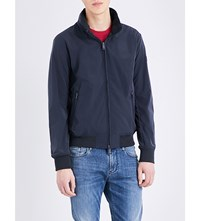 Armani Jeans Stand Collar Shell Jacket Navy