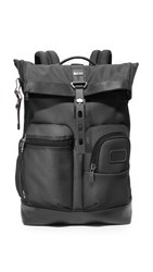 Tumi Alpha Bravo Luke Roll Top Backpack Reflective Silver