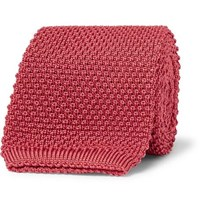 Anderson And Sheppard 6Cm Knitted Silk Tie Pink