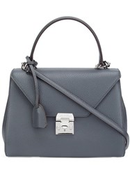 Mark Cross Flap Closure Tote Bag Grey
