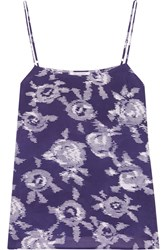 Equipment Cara Printed Washed Silk Camisole