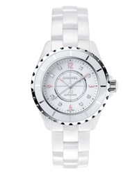 Chanel J12 Pinklight 38Mm Ceramic And Steel Watch