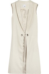 Iris And Ink Alexis Woven Raffia Vest White