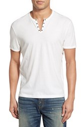 Men's John Varvatos Star Usa Eyelet Neck Henley Salt